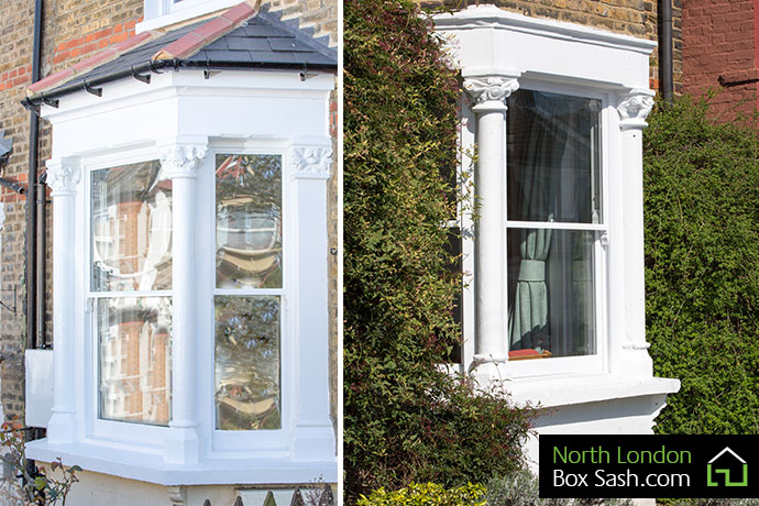 Victorian Bay Window with Sashes