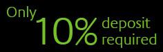 10% deposit